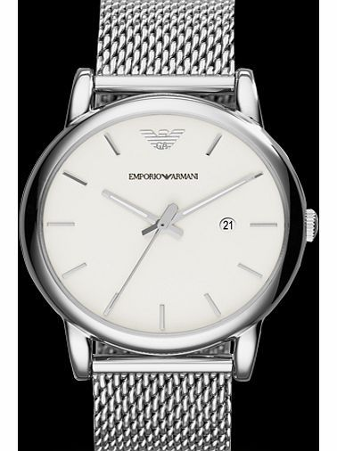 Armani Mens Watch AR1812 Sleek and timeless, this three-hand combines a clean silver dial and a stainless steel mesh bracelet. http://www.comparestoreprices.co.uk/mens-watches/armani-mens-watch-ar1812.asp