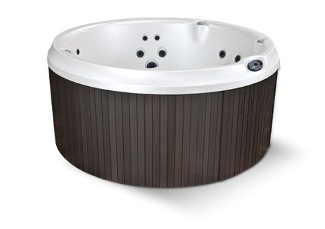 The J-210 model hot tub features a classic round shape with modern luxury amenities. Jacuzzi® Hot Tubs offers this relaxing tub, accessories, and more.