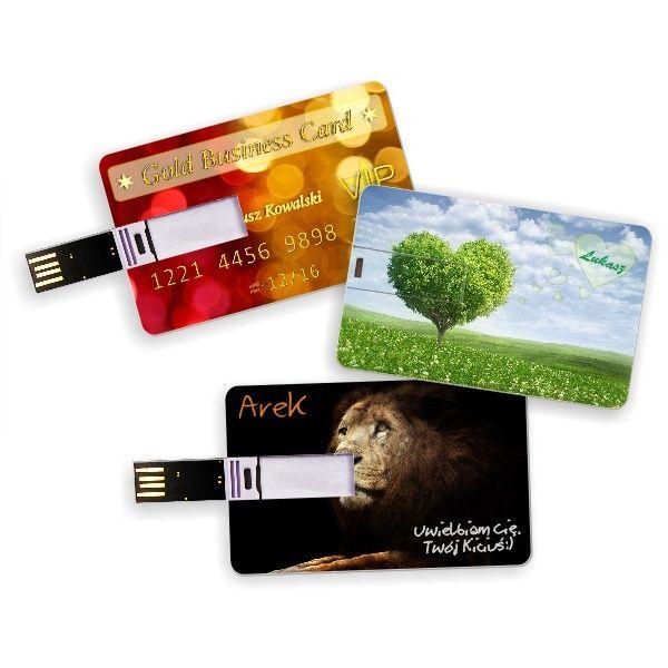 Pendrive 16 GB z dowolnym nadrukiem. ta przenośna pamięć ma rozmiar karty do bankomatu, więc można ją nosić nawet w portfelu!