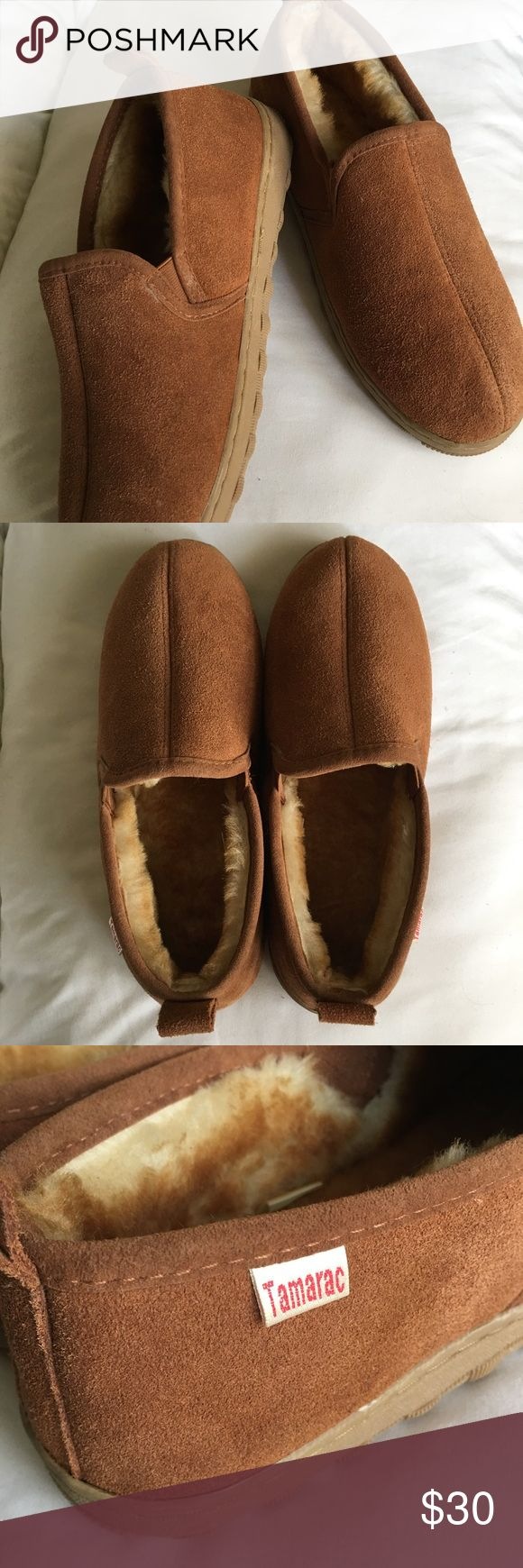 NWOT Mens Tamarac Slip on Shoes Like new/barely worn, very comfortable mens shoe. Made with Genuine leather, shearling linings & a rubber sole. No trades 🚫 No paypal ☺ Tamarac Shoes Loafers & Slip-Ons