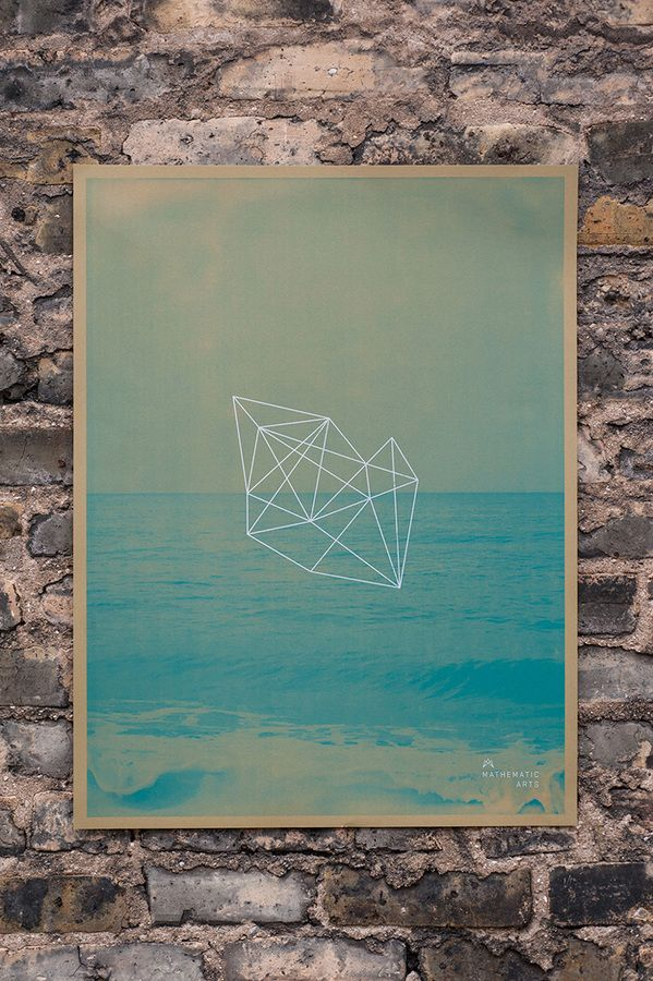 Dots and Lines / Mathematic Arts poster