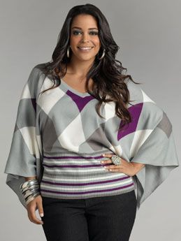 Ashley Stewart Plus Size Clothing | PLUS Trend Of The Day…Argyle Dolman Sleeve Sweater | PLUS Model ...