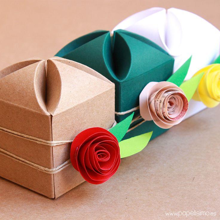 Caja de regalo boda hecha a mano flor Wedding handmade gift box 2
