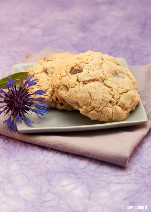 Cookies chocolat / amande sans gluten sans beurre de Karen, cuisine saine #recette #gluten