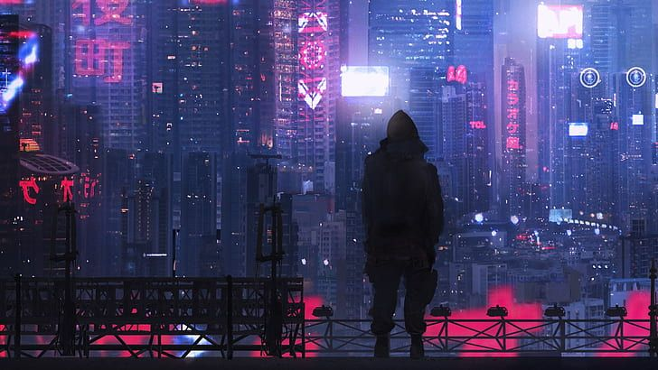 Cyberpunk Purple Fantasy Art City Fantasy City Concept Art Hd Wallpaper In 2020 Futuristic City Fantasy City Cyberpunk City