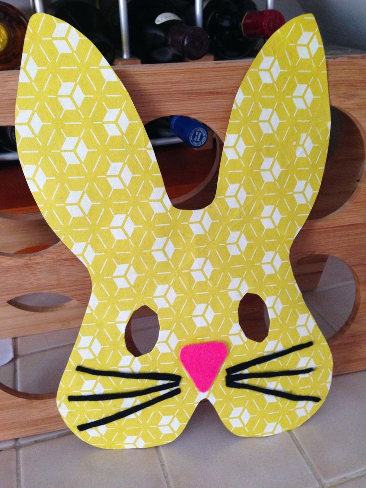 Nati's Little Things: Easter bunny mask template for you to decorate with the kids at home!