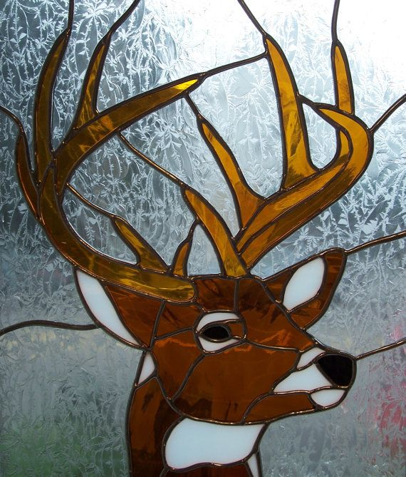 Stained+Glass+Deer/Buck+by+MicahsGlass+on+Etsy,+$250.00