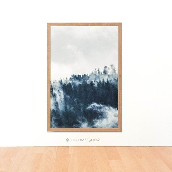 Modern Minimal Nordic Print Forest Landscape Minimal Wall Etsy Forest Landscape Wall Art Minimal Wall Art