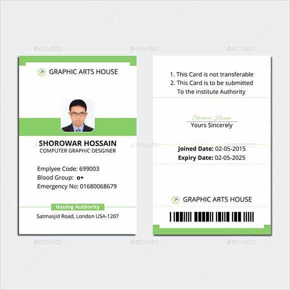 40 Id Card Template Word Trong 2020