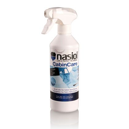 Nasiol Cabincare expels the stress and keeps your upholstery's new-look. Shields car fabrics from stain and makes a nano measured covering that repells water.