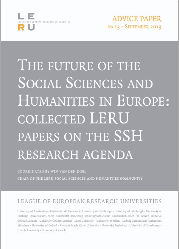 In this paper LERU explains why Social Science and Humanities (SSH) research, as the scholarly discipline which generates  new and intrinsically valuable knowledge pertaining to all human aspects of the world, is of vital importance to the future of Europe.