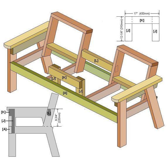 Fabulous Plans For A Two Seater Bench With Center Table In 2019 Frankydiablos Diy Chair Ideas Frankydiabloscom