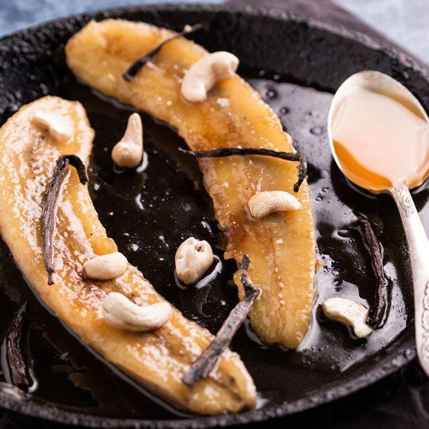 Banane à la vanille et au sirop d'érable