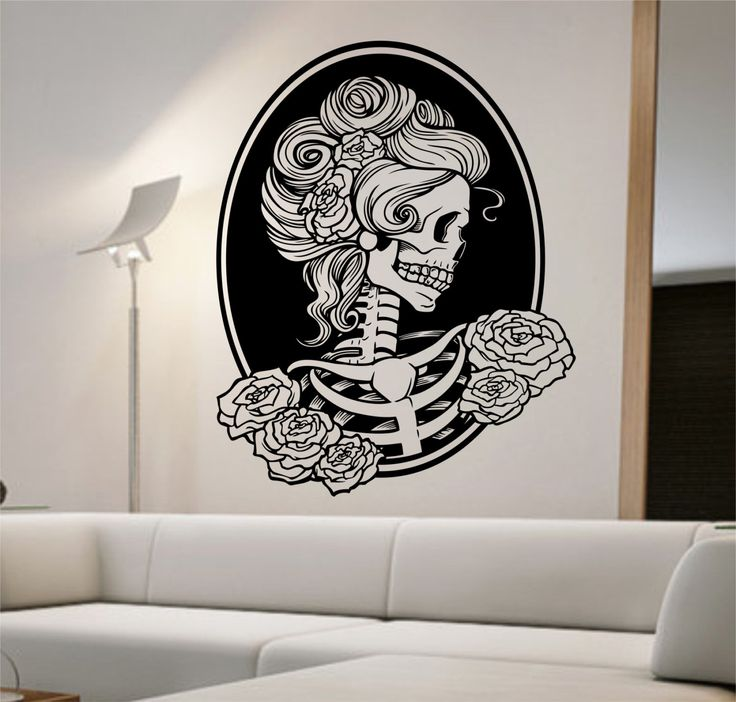 Day Of The Dead Girl Vinyl Wall Decal Sticker Art Decor Home Decorators Catalog Best Ideas of Home Decor and Design [homedecoratorscatalog.us]