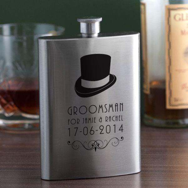 Personalised Groomsman Hip Flask