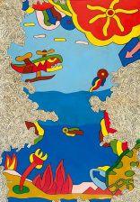 Ακριθάκης Αλέξης-Fantastic landscape, 1970