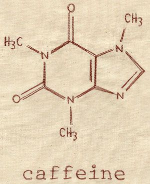 This would be great to stitch on a gift for a Starbucks-addicted math or science teacher.  Caffeine Molecule design (UT3492) from UrbanThreads.com