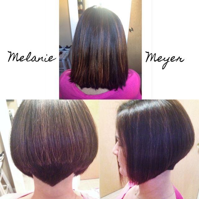 A-line graduated disconnected bob with undercut and detail. Short hair women style. Melanie Meyer, Melanie Meyer Hair Follow me on instagram @melaniemeyerhair!