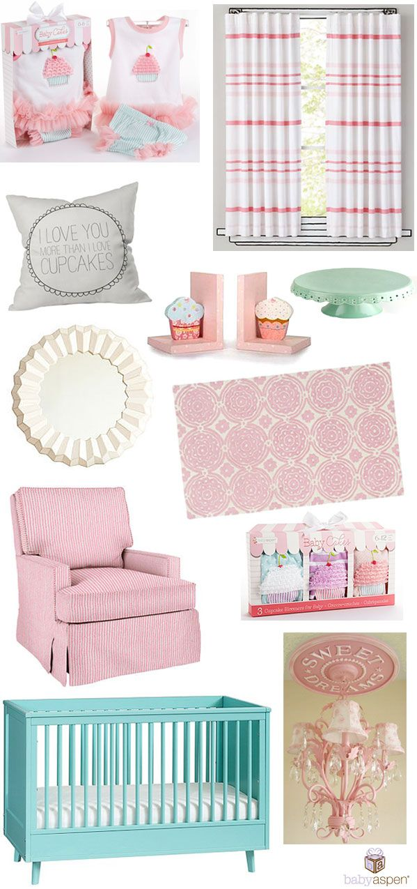 So Sweet Cupcake Cribspiration from Baby Aspen | Cupcake Nursery Inspiration | Sugar and Spice and Everything Nice