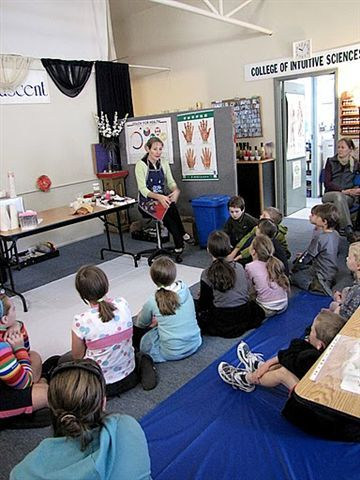 Fun Home school Kids class making soaps and bath salts with Lesley Mitchell