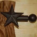 Western Star Curtain Rod and Bracket Set