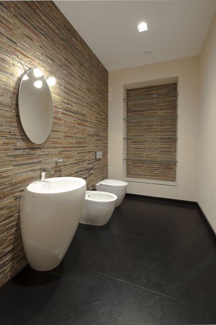 Дизайн интерьера. Гостевой туалет. Загородный дом