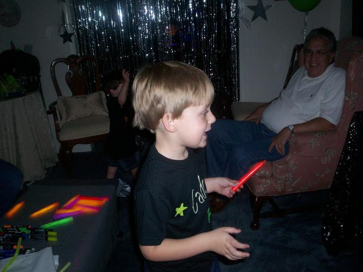 glow sticks were a hitGlow Sticks, Spaces Parties, Boys Birthday
