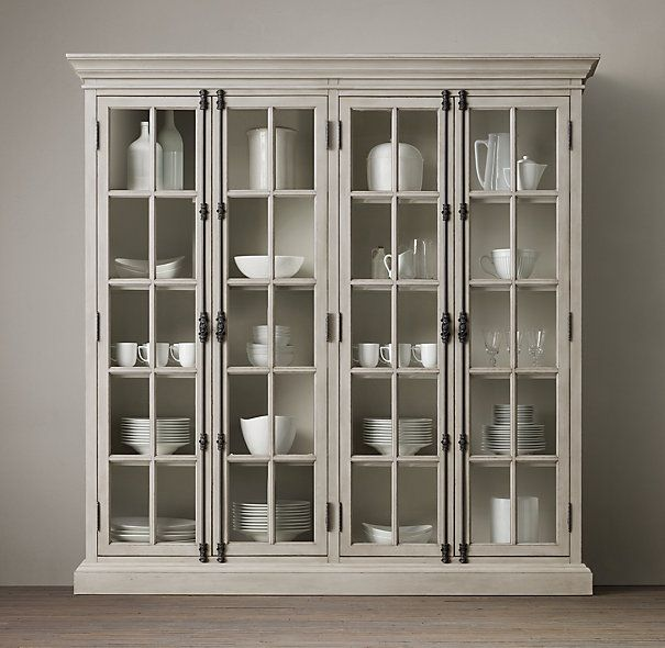 French casement 4 door cabinet restoration hardware pinterest french hardware and glass - Restoration hardware cabinets ...