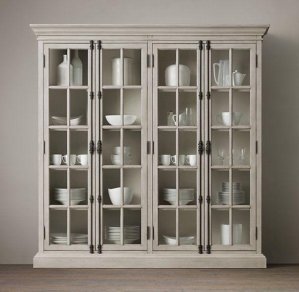 French casement 4 door cabinet restoration hardware - Restoration hardware cabinets ...