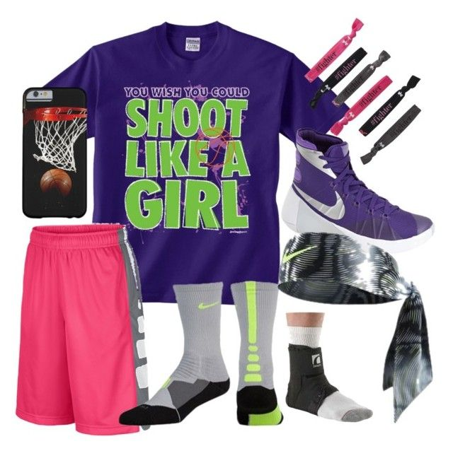 """Cuz basketball is starting soon"" by jmsmith462 ❤ liked on Polyvore featuring NIKE and Under Armour"