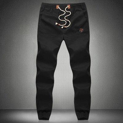 Men's Cotton Jogger Pants, Trousers, Plus Size Sweatpants, Navy Blue, Khaki, Army Green, Black
