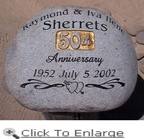 Wedding Stones  Large74 best 50th Anniversary Ideas images on Pinterest   50th wedding  . Gift Ideas For 50th Wedding Anniversary. Home Design Ideas