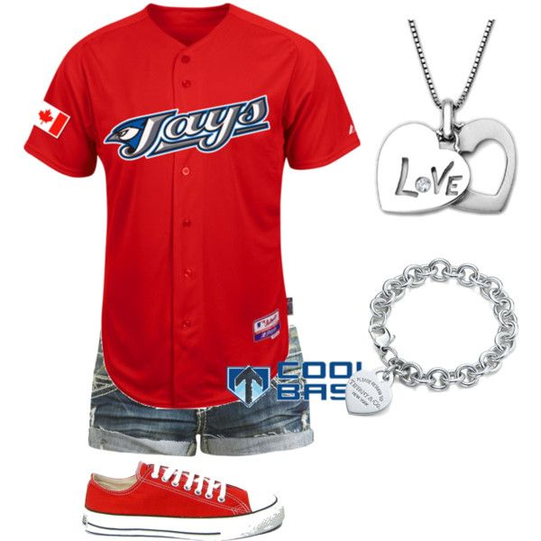 Outfit -- Toronto Blue Jays- Cute for a baseball game>>>gotta get a jersey   aah i love this