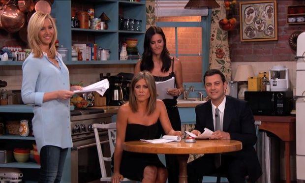 Friends reunited as Jennifer Aniston, Courteney Cox and Lisa ...