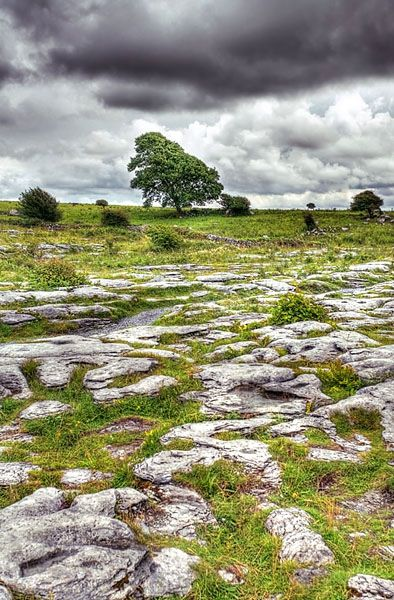 The Burren. The ancient monuments and rock formations abound. You can see other spectacular scenery driving to Galway Bay.