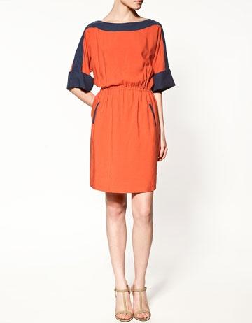 ZaraColors Combos, Two Ton Dresses, Auburn Football, Tone Dresses, Colors Block, Wars Eagles, The Navy, Bold Colors, Work Dresses