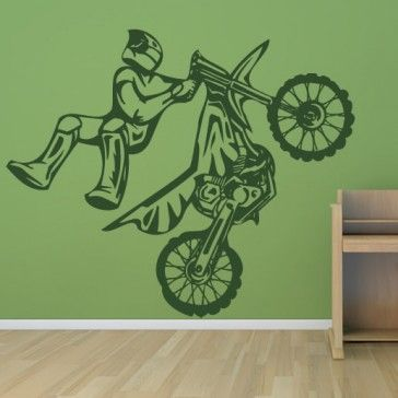 1000 ideas about wall art decal on pinterest kitchen for Dirt bike wall mural