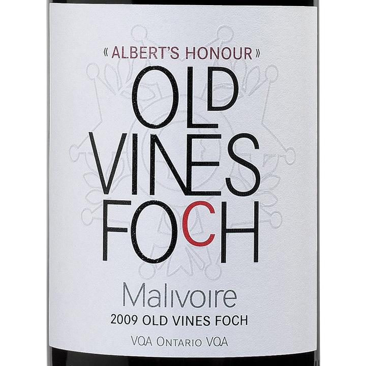 MALIVOIRE ALBERT'S HONOUR OLD VINES FOCH 2010 $24.95 #OntarioWine
