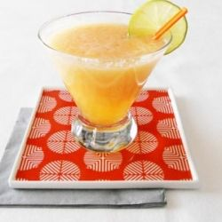 Cantaloupe Margarita with natural fresh ingredients