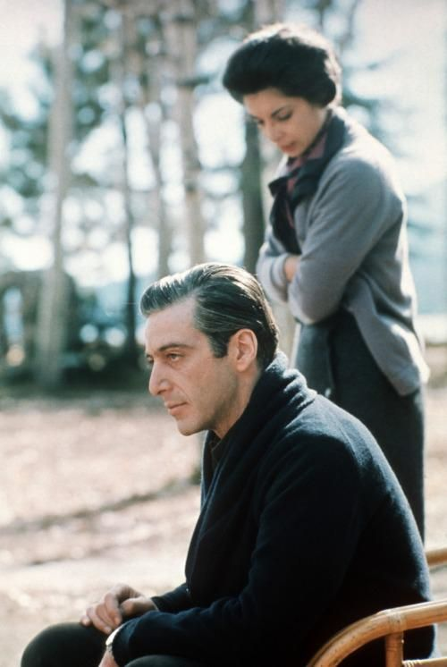 Al Pacino and Talia Shire, deleted scene from THE GODFATHER PART II. ChaplinLife.com @MedaMokhtar