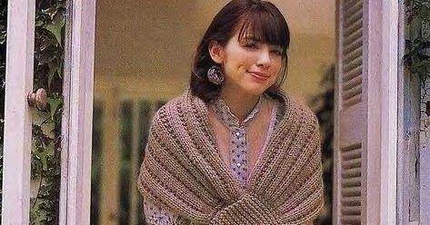 Patrones Crochet: Toquilla Chal Cierre Pico 2 agujas Tutorial