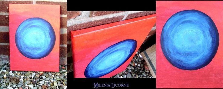 No Name / Blue on Red by MileniaLicorne.deviantart.com on @deviantART