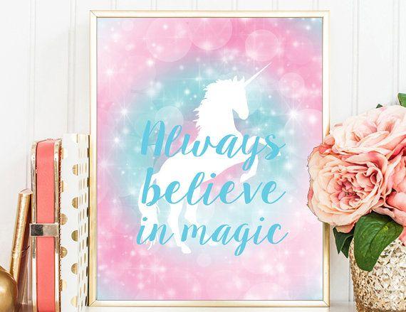 Always Believe In Magic Unicorn Digital by TheBestOfMeDesigns