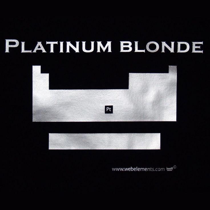 Periodic table shirt – platinum blonde design, skinni-fit