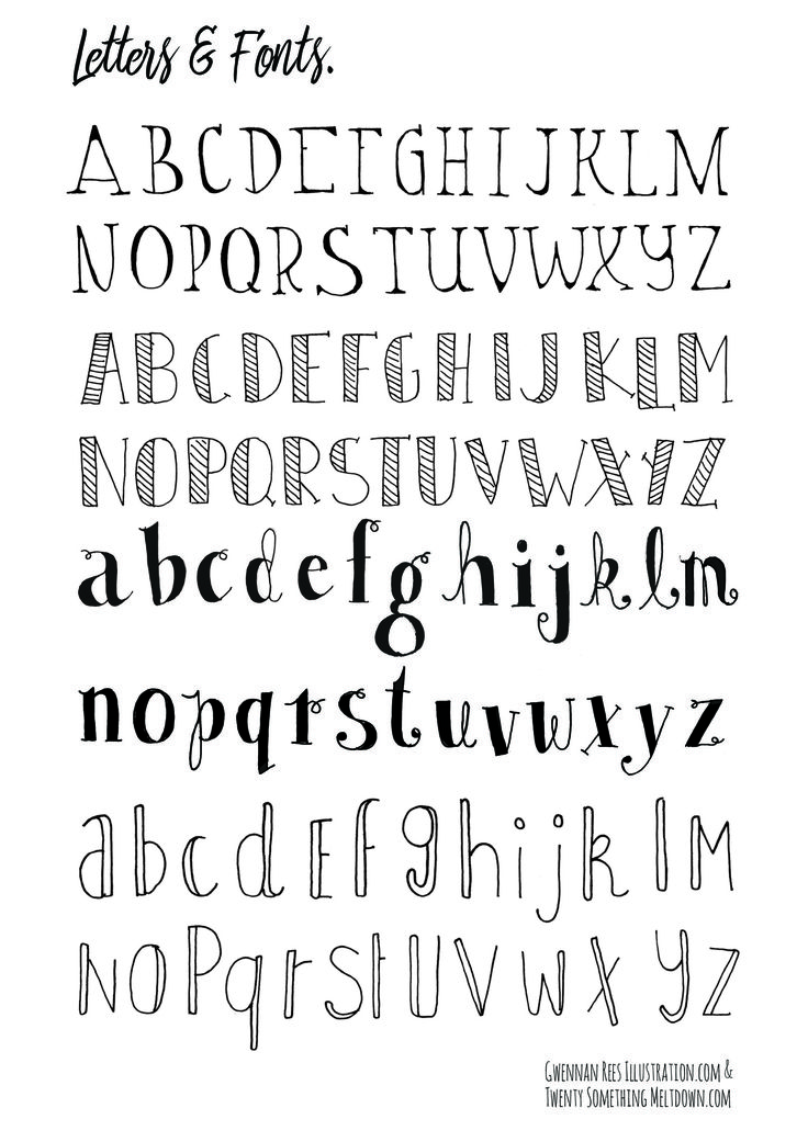 easy calligraphy alphabet