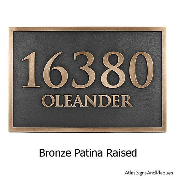Rockdale Station Address Plaque 18x12 inches Trajan Font Home Business Custom Sign on Etsy, $329.30