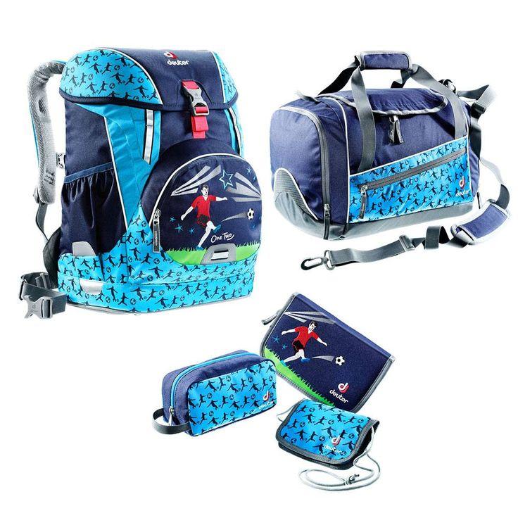Deuter Schulrucksack Set 5tlg OneTwo Hopper Navy Soccer #Schulranzen #Ranzen #Schulanfang #Einschulung #Fußball