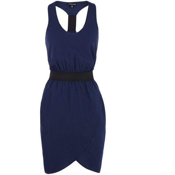 Curve Front Vest Dress ($55) ❤ liked on Polyvore featuring dresses, women, cross over dress, holiday party dresses, night out dresses, racerback dress and party dresses