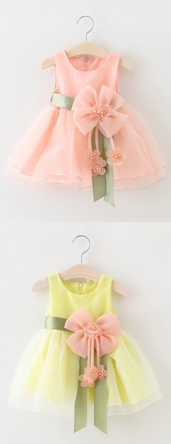 Mint / Blue Flower Girl Kleider, Sweet Flower Girl Kleider mit Flower Pearl, Cute   – Roupas infantil