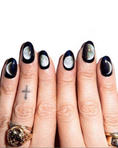 Instagram beauty inspo: moon-print nails